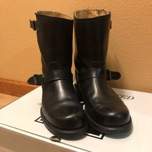 Men's Black Frye Wayde Engineer Boots
